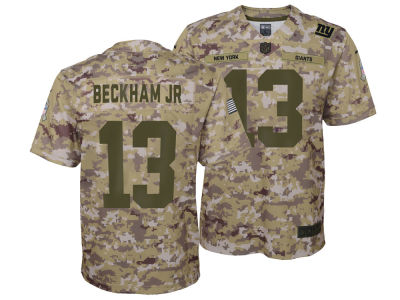 New York Giants Odell Beckham Jr. Nike 2018 NFL Youth Salute To Service Jersey