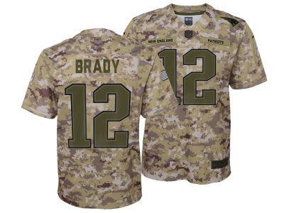 New England Patriots Tom Brady Nike 2018 NFL Youth Salute To Service Jersey