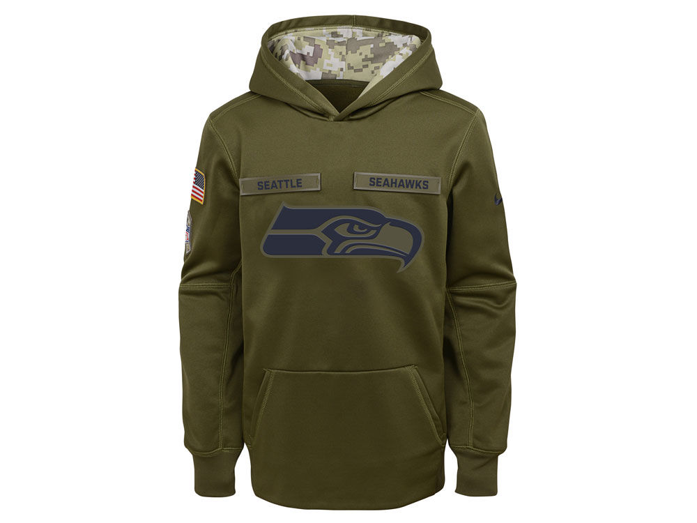 8b5df2fc6 ... top quality seattle seahawks nike 2018 nfl youth salute to service  therma hoodie 3f3c7 a422e
