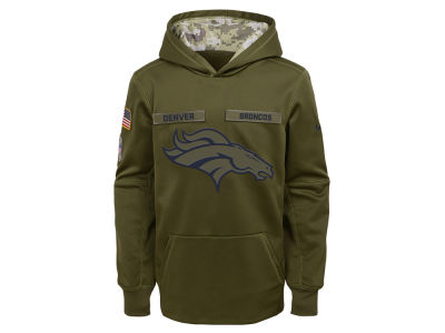 Denver Broncos Nike 2018 NFL Youth Salute To Service Therma Hoodie