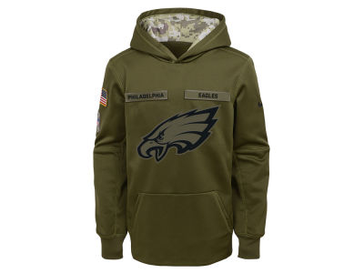 Philadelphia Eagles Nike 2018 NFL Youth Salute To Service Therma Hoodie