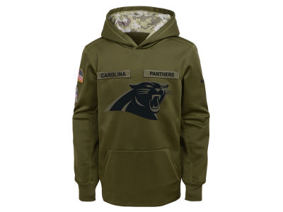 Carolina Panthers Nike 2018 NFL Youth Salute To Service Therma Hoodie 684f753d3