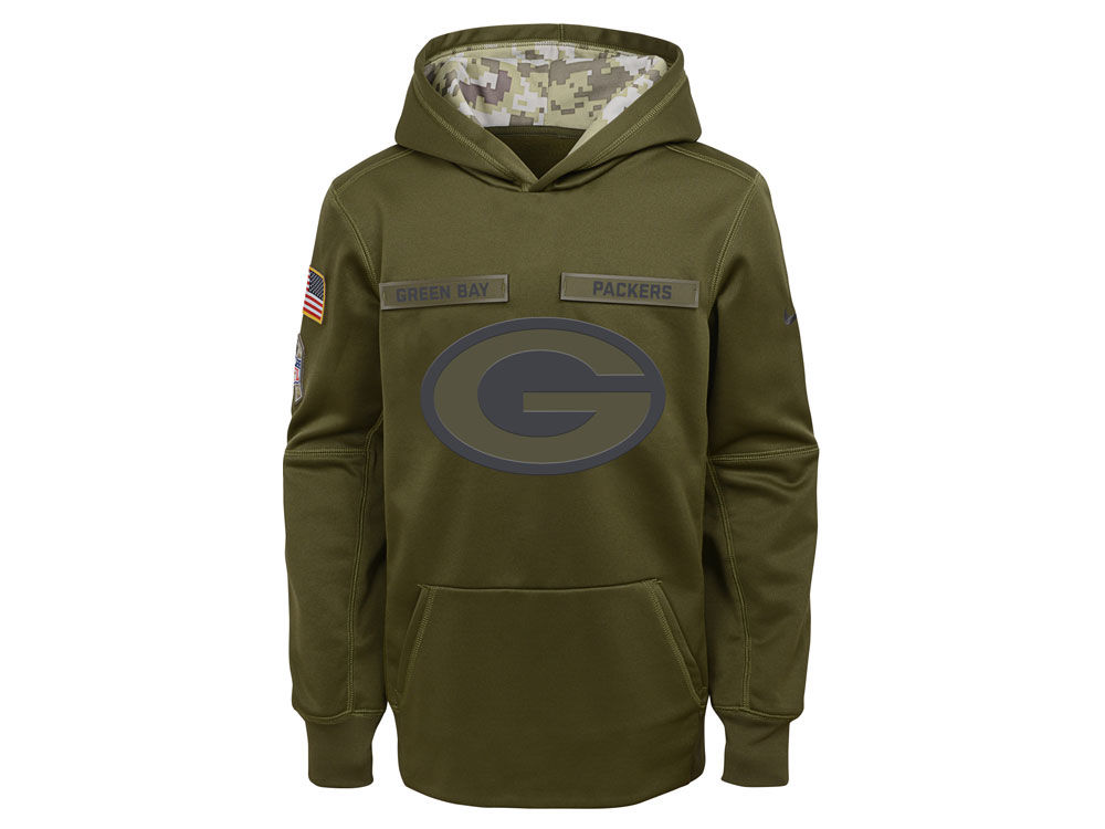 Green Bay Packers Nike 2018 NFL Youth Salute To Service Therma Hoodie  9cddac4a7