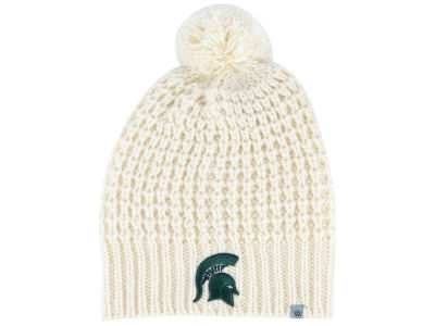 Michigan State Spartans Top of the World NCAA Women's Slouch Pom Knit
