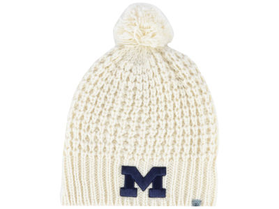 Michigan Wolverines Top of the World NCAA Women's Slouch Pom Knit