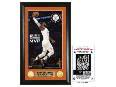 Cleveland Cavaliers Lebron James 2018 NBA All Star Game Supreme Game Used Net Photo
