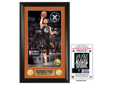 Golden State Warriors Stephen Curry Highland Mint 2018 NBA All Star Game Supreme Game Used Net Photo