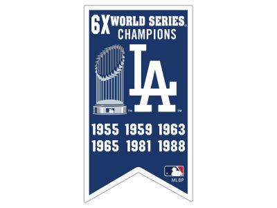 Los Angeles Dodgers Aminco Championship Banner Pin