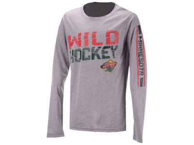Minnesota Wild Outerstuff NHL Youth Break Lines Long Sleeve T-Shirt