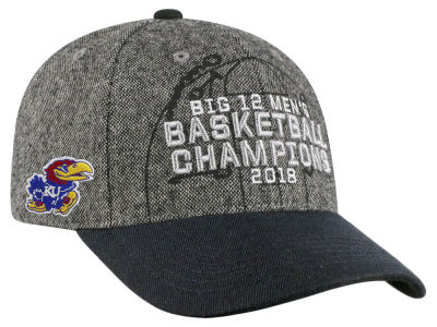 Kansas Jayhawks Top of the World 2018 NCAA Big 12 Tourney Champs Cap