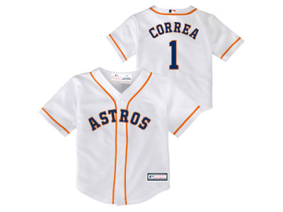Houston Astros Carlos Correa Majestic MLB Toddler Blank Replica Cool Base Jersey