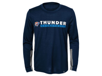 Oklahoma City Thunder Outerstuff NBA Kids Covert Long Sleeve T-shirt