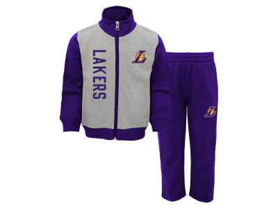 Los Angeles Lakers Outerstuff NBA Infant On the Line Pant Set