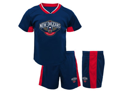 New Orleans Pelicans Outerstuff NBA Toddler Double Dribble Short Set