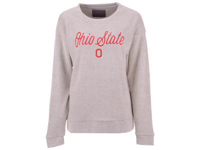 Ohio State Buckeyes Top of the World NCAA Women's Vintage Boucle Crew Sweatshirt