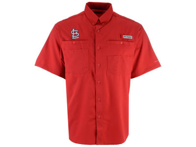 St. Louis Cardinals Columbia MLB Men's Tamiami Shirt