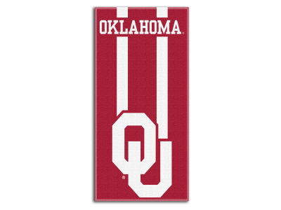 "Oklahoma Sooners College 30x60 inch Beach Towel ""Zone Read"""