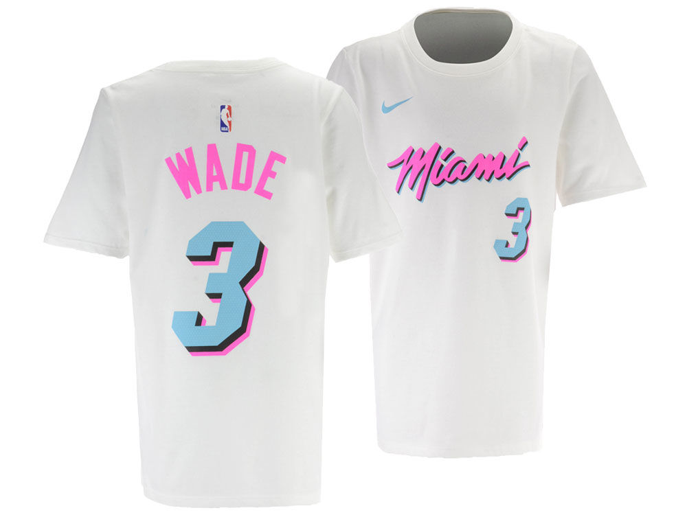 4a00d07b4ad ... shop miami heat dwyane wade nike nba youth city edition t shirt 8a5b6  bef9c