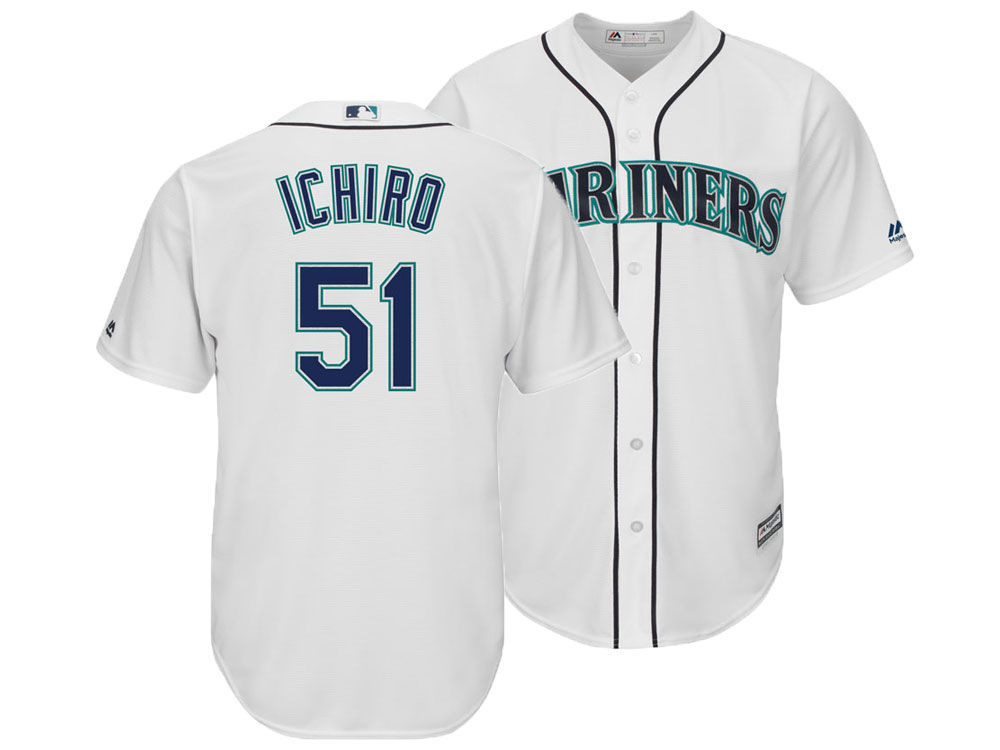 ab036437031 Seattle Mariners Ichiro Suzuki Majestic MLB Men s Player Replica ...