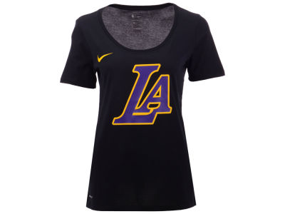 Los Angeles Lakers Nike NBA Women's City Edition Logo T-Shirt