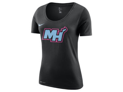 Miami Heat Nike NBA Women's City Edition Logo T-Shirt