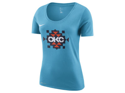 Oklahoma City Thunder Nike NBA Women's City Edition Logo T-Shirt