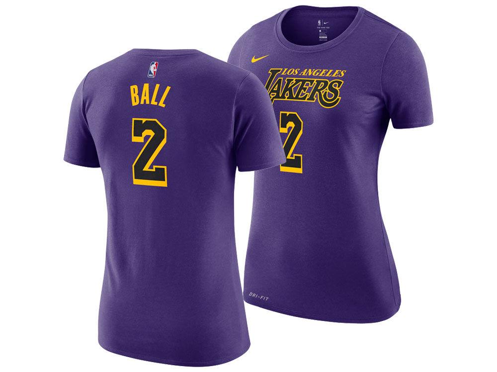 Los Angeles Lakers LONZO BALL Nike NBA Women s City Edition Player T-Shirt   2206be847