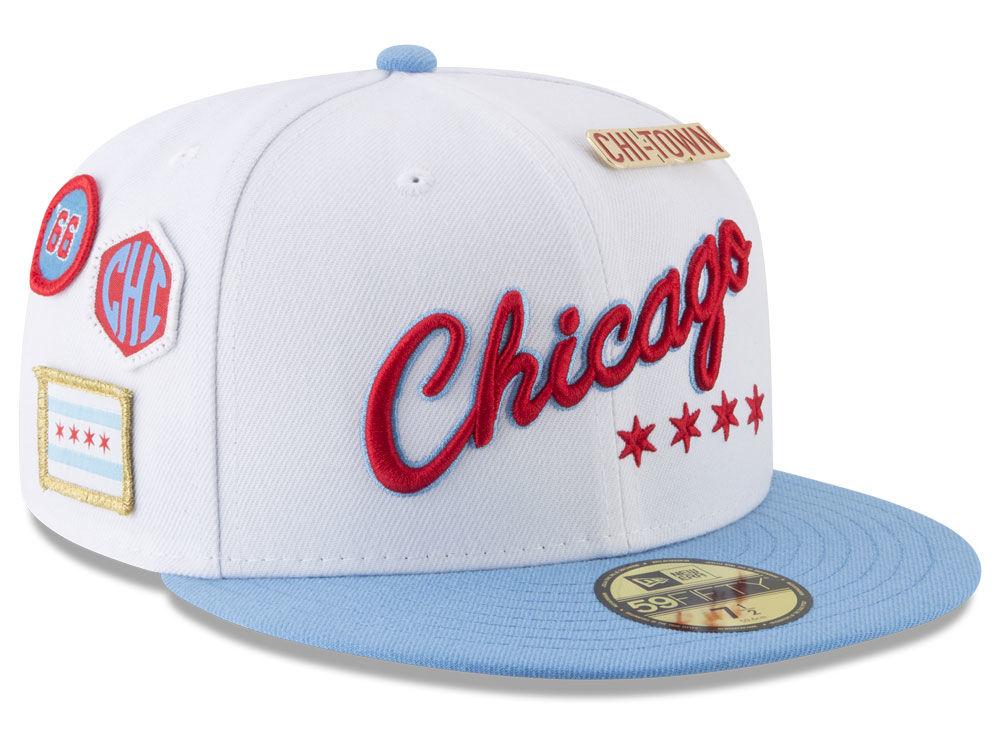 3b094e744a6 Chicago Bulls New Era NBA City On-Court 59FIFTY Cap