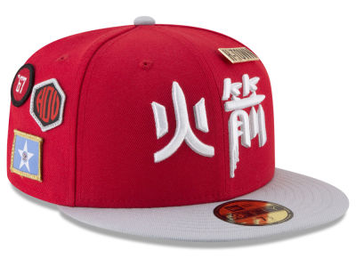 Houston Rockets New Era NBA City On-Court 59FIFTY Cap