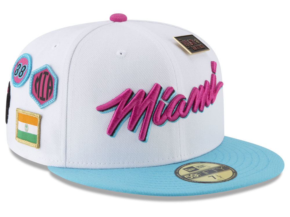 huge selection of 5a7b4 eefe8 ... reduced miami heat new era nba city on court 59fifty cap e2ada 35368