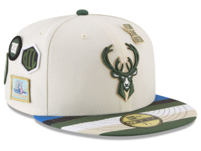 Milwaukee Bucks New Era NBA City On-Court 59FIFTY Cap