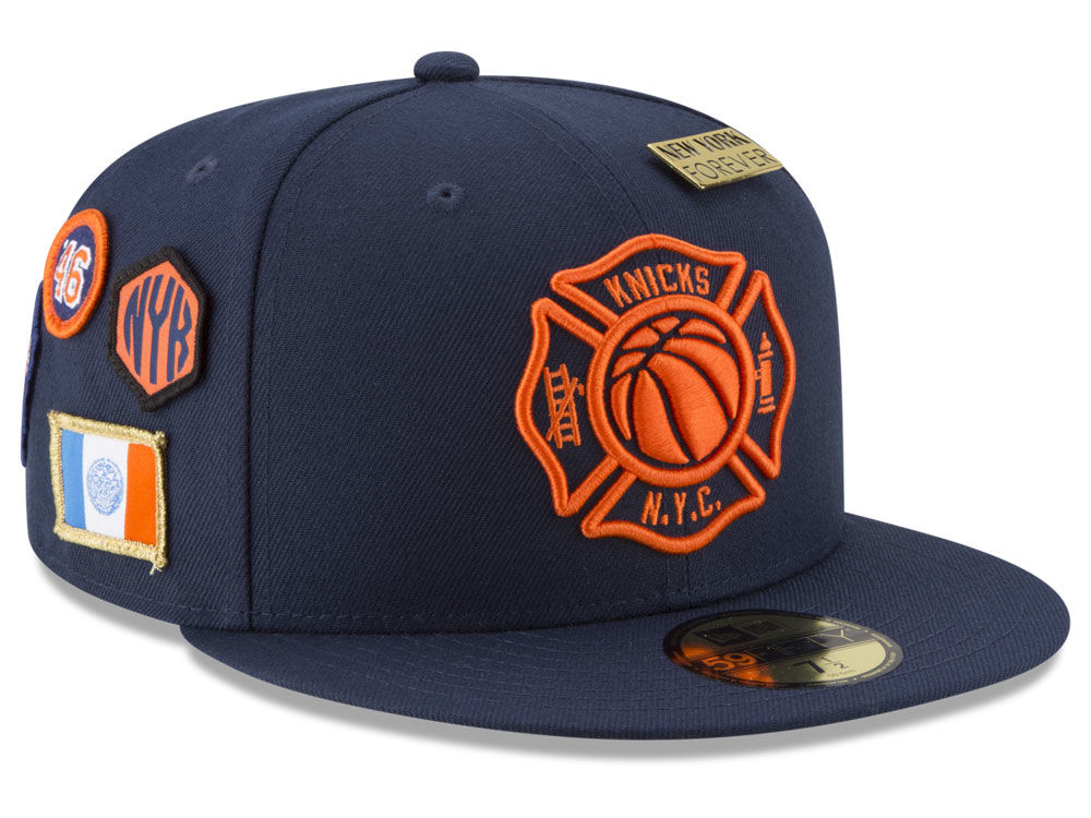 New York Knicks New Era NBA City On-Court 59FIFTY Cap  e3d1c2397e5