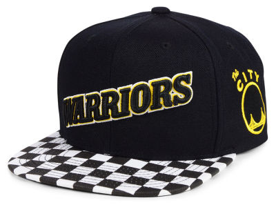 Golden State Warriors Mitchell   Ness NBA Checked Out Snapback Cap 8c910a7d76f7