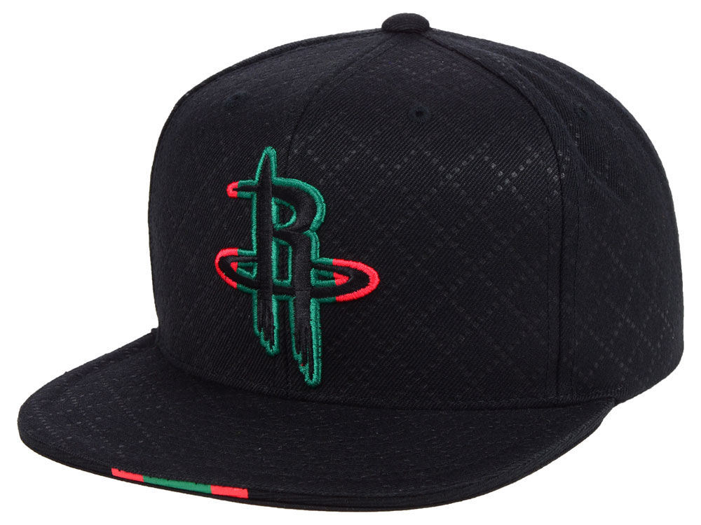 uk availability f577a 630d9 Houston Rockets Mitchell & Ness NBA Italian Collection Snapback Cap