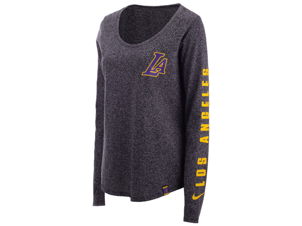 Los Angeles Lakers Nike NBA Women s City Edition Marled Long Sleeve T-Shirt   56048f78b