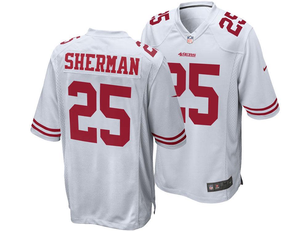 San Francisco 49ers Richard Sherman Nike NFL Men s Game Jersey ... c314ddb2f