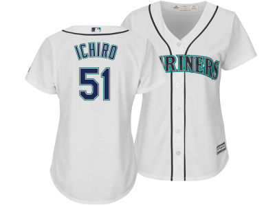 Seattle Mariners Ichiro Suzuki Majestic MLB Women's Cool Base Player Replica Jersey