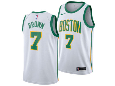 Boston Celtics JAYLEN BROWN Nike 2018 NBA Men's City Swingman Jersey