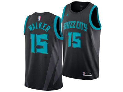 Charlotte Hornets KEMBA WALKER Nike 2018 NBA Men's City Swingman Jersey