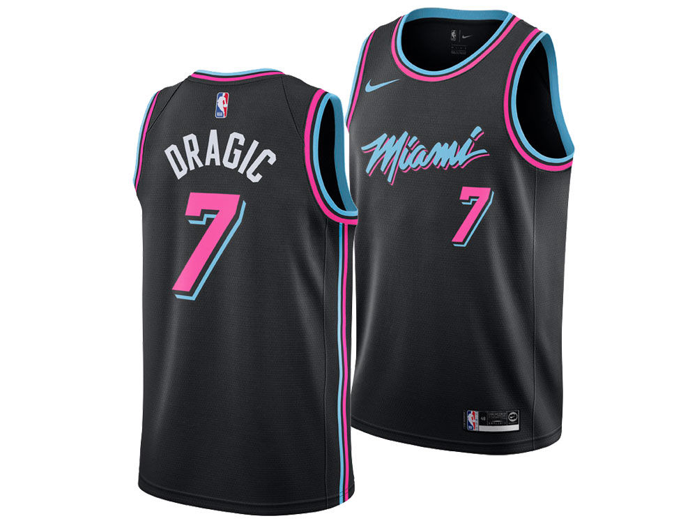 Miami Heat GORAN DRAGIC Nike 2018 NBA Men s City Swingman Jersey ... 940606ca0