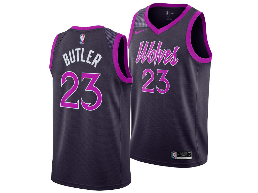 Minnesota Timberwolves JIMMY BUTLER Nike 2018 NBA Men s City Swingman Jersey   c97b15c60