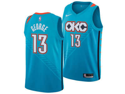 Oklahoma City Thunder PAUL GEORGE Nike 2018 NBA Men's City Swingman Jersey