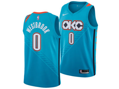 Oklahoma City Thunder RUSSELL WESTBROOK Nike 2018 NBA Men's City Swingman Jersey