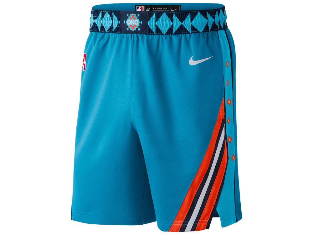 Oklahoma City Thunder Nike 2018 NBA Men s City Swingman Short  d75aad4e6