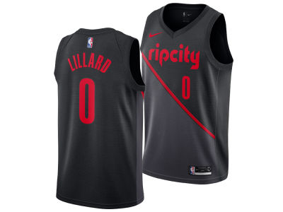 Portland Trail Blazers DAMIAN LILLARD Nike 2018 NBA Men's City Swingman Jersey