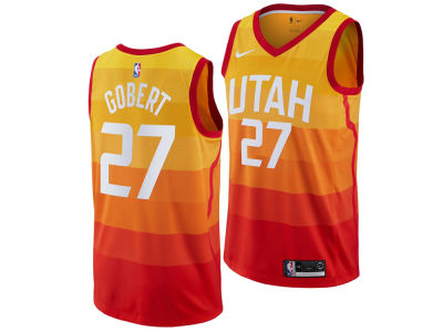 Utah Jazz Rudy Gobert Nike 2018 NBA Men's City Swingman Jersey