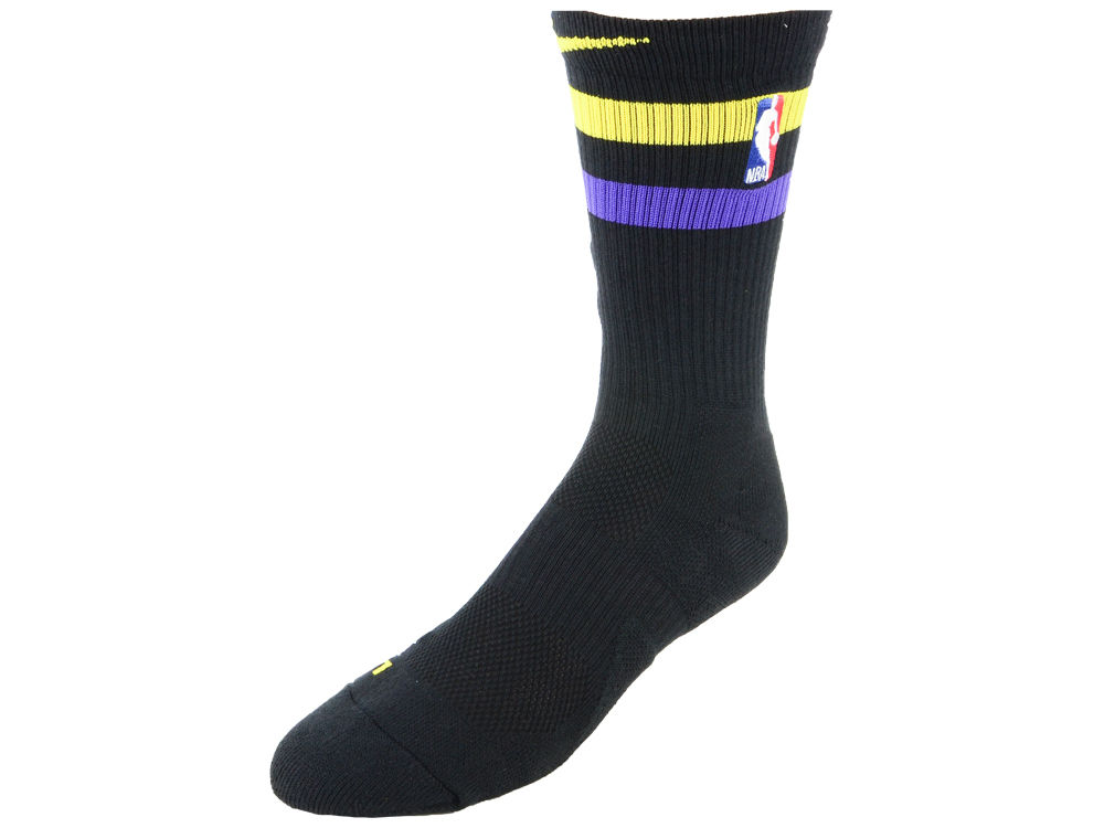 Los Angeles Lakers Nike NBA City Edition Elite Crew Socks  f5214dff0