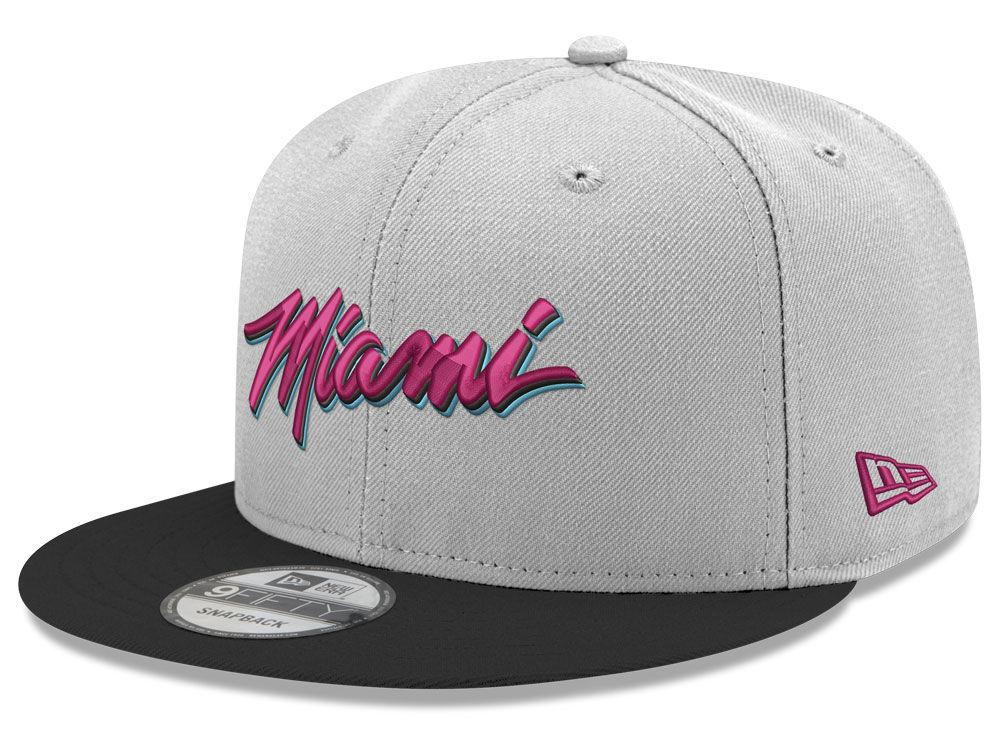 fde833abcc5 Miami Heat New Era NBA Miami Draft Cus 9FIFTY Snapback Cap