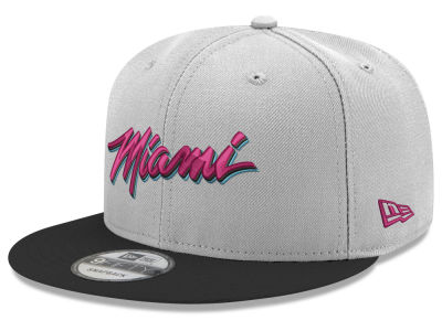 Miami Heat New Era NBA Miami Draft Cus 9FIFTY Snapback Cap