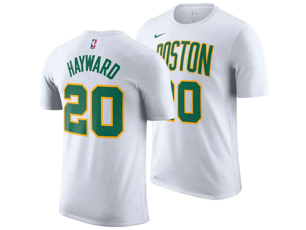 a7d7196f5 Boston Celtics Gordon Hayward Nike 2018 NBA Men s City Player T-shirt